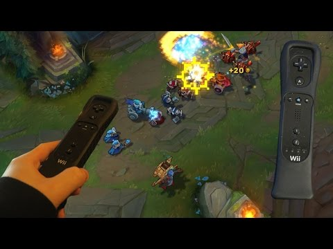 PLAYING EZREAL WITH A WIIMOTE - WEIRD LEAGUE OF LEGENDS