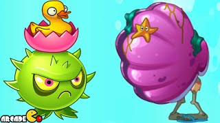 Plants Vs Zombies 2: Max Level Homing Thistle Shield Zombies Big Wave Beach Day 18