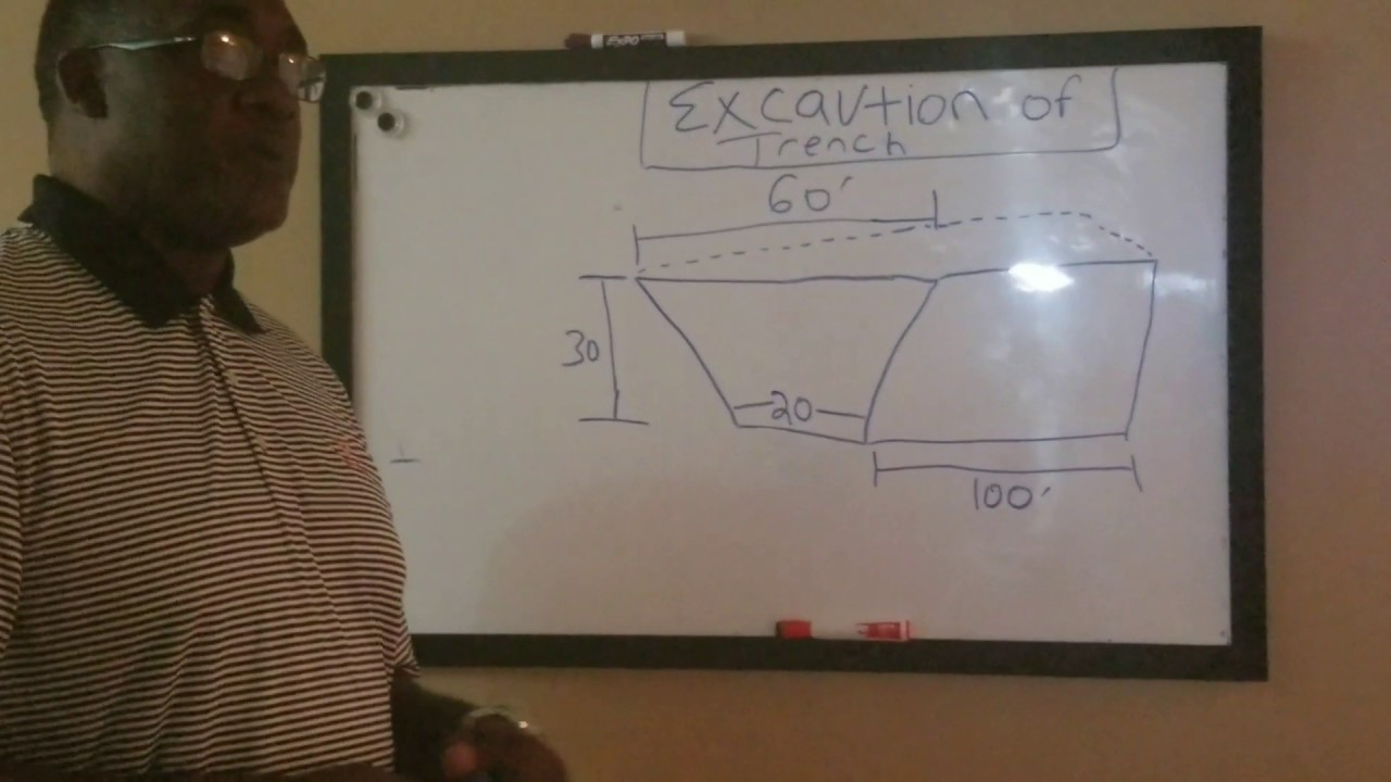 Trench Excavation Calculation