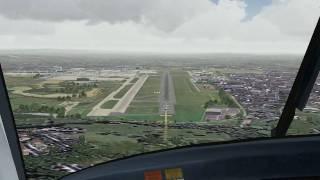 FS2004 - Gatwick Landing - FreeTrack Head Tracker.