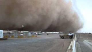 Kuwait SANDSTORM !!!! Camp Buehring 25Mar2011