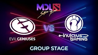 Evil Geniuses vs Invictus Gaming - MDL Macau 2019: Group Stage