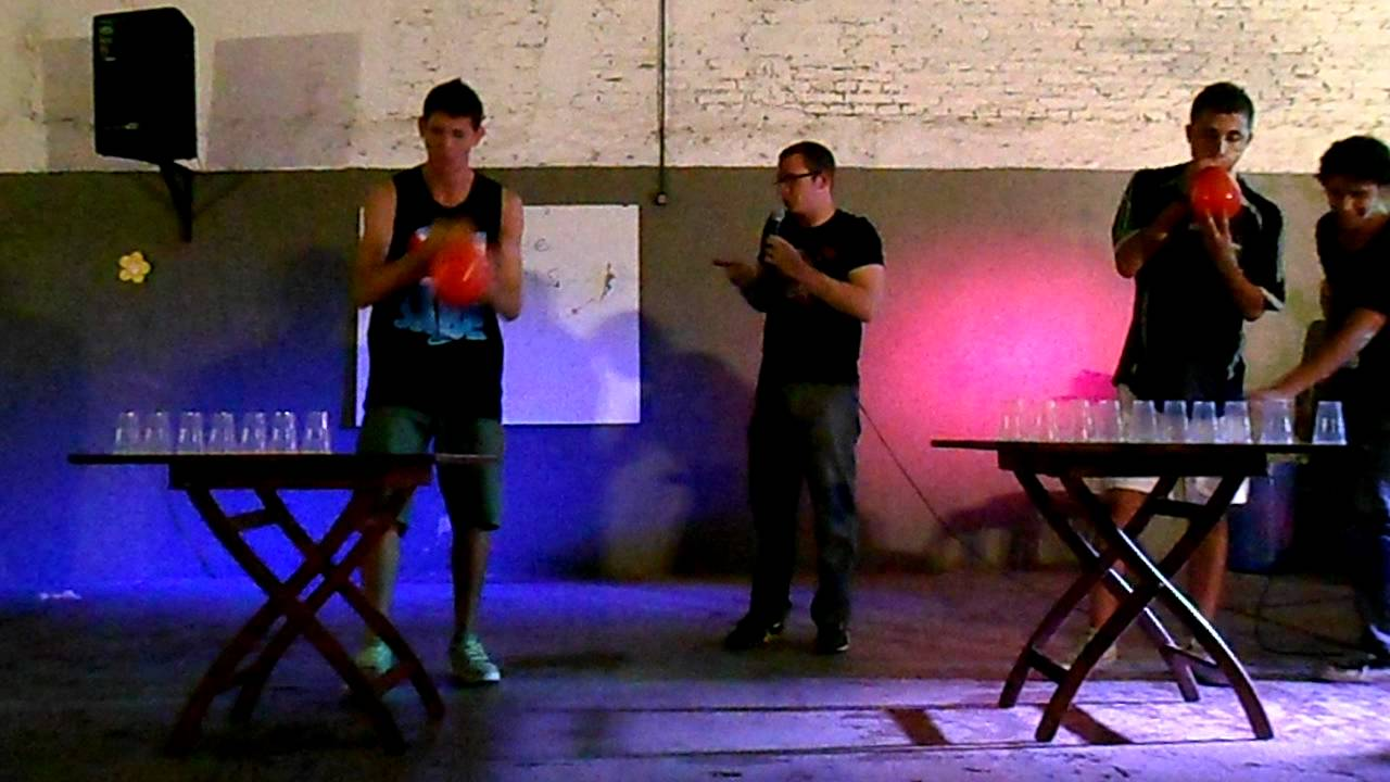 Juego Soplar Vasos Con Globo Karaoke Mad 60 Segundos Para Ganar