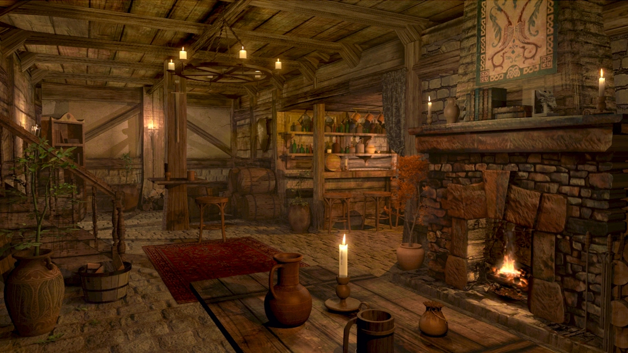 Fireplace Sounds - Medieval Tavern - Inn Ambience | 1 hour ...