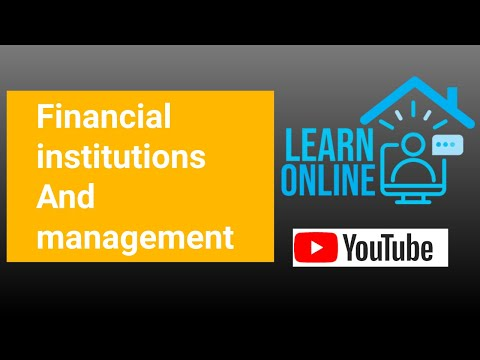 Financial institutions and management | telugu explanation