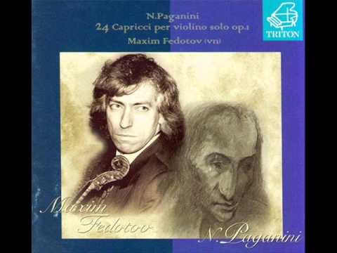 MAXIM FEDOTOV N.PAGANINI 24 Caprices for violin solo op.1