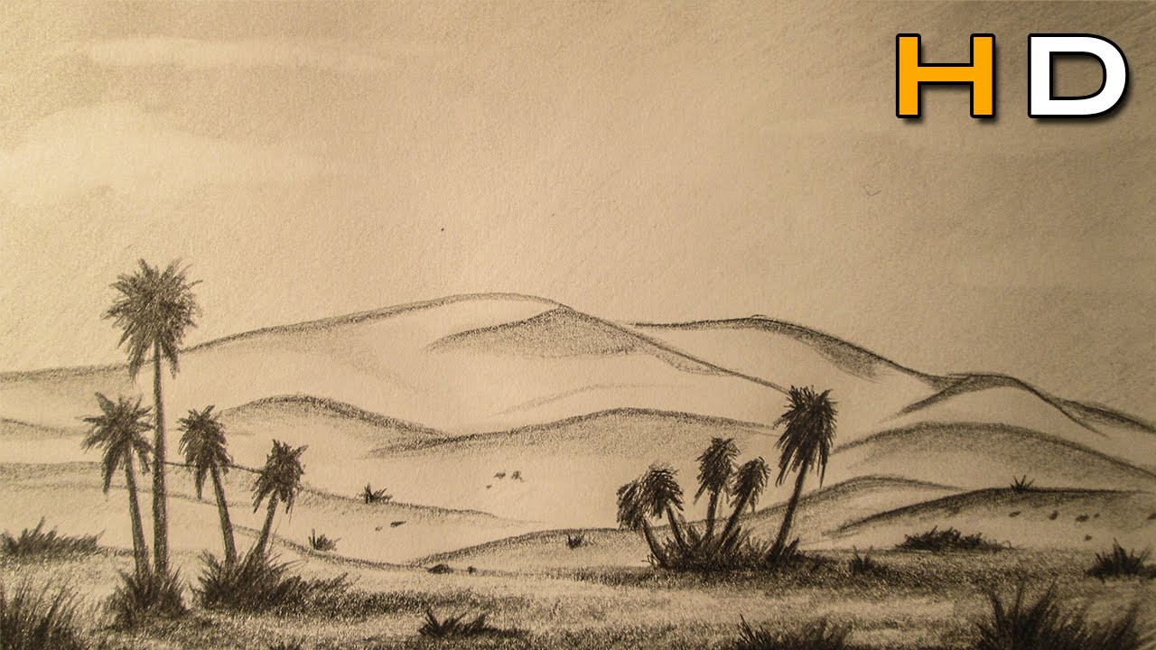 25 Sketches Cartoon Desert Landscape Pictures And Ideas On Pro