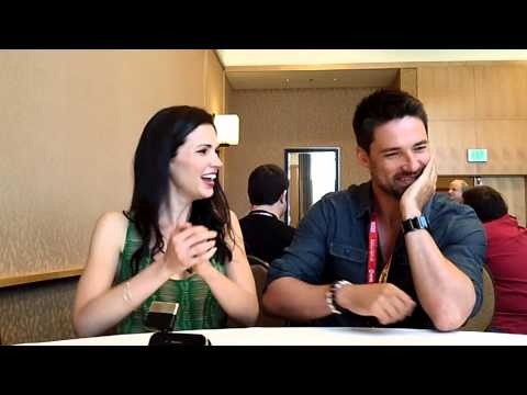 With Laura Mennell & Warren Christie From Syfy's Alphas at ComicCon 2012
