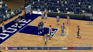 College Hoops 2K7 Xbox 360 Gameplay - Heels