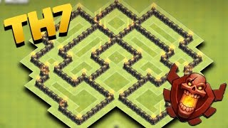 Clash Of Clans | Town Hall 7 Trophy Base (TH7 Pushing/Earning Trophies) 2016