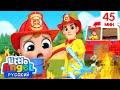 Профессия Пожарный 🔥 | Сборник Развивающих Песенок Для Детей | Little Angel Русский