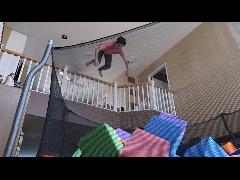 Thumbnail: INSANE INDOOR TRAMPOLINE VS FOAM PIT!!