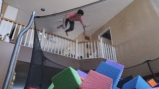 INSANE INDOOR TRAMPOLINE VS FOAM PIT!! | FaZe Rug