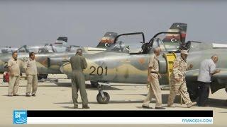 طيارون ليبيون على متن مقاتلات ليبية يشاركون في معركة سرت