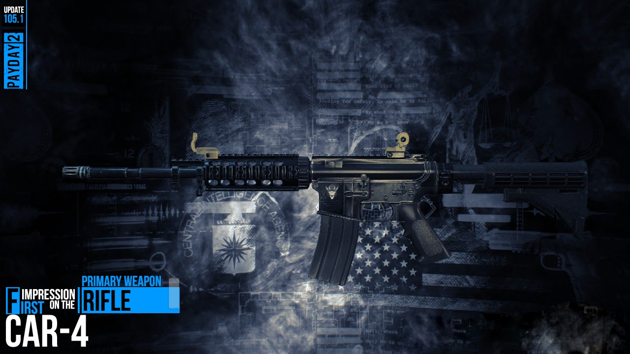 Payday 2 First Look At The Car 4 Rifle