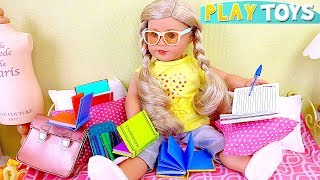 AG Baby Doll After School Evening Routine in Doll Bedroom!