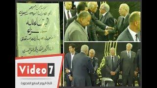 على عبد العال ومحلب يشاركان فى عزاء رفعت السعيد بعمر مكرم