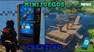 HOW TO HAVE *MINIGAMES* IN CREATIVE MODE ? BUGS DE FORTNITE (Vending machines, boats...)