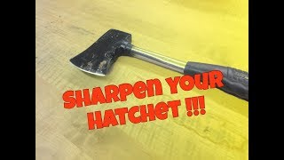 How To Sharpen Your Hatchet or Axe Like a PRO   EdgeProinc.com