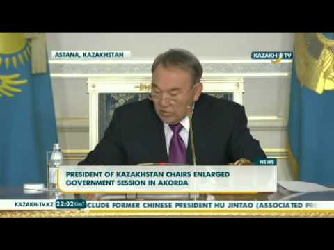 President of Kazakhstan chairs the enlarged government session in Akorda