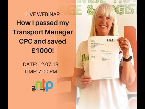 How I PASSED My Transport Manager CPC And Saved Over £1000!!
