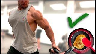 Chest Workout UPPER fibres (DIY Protein Pancake)