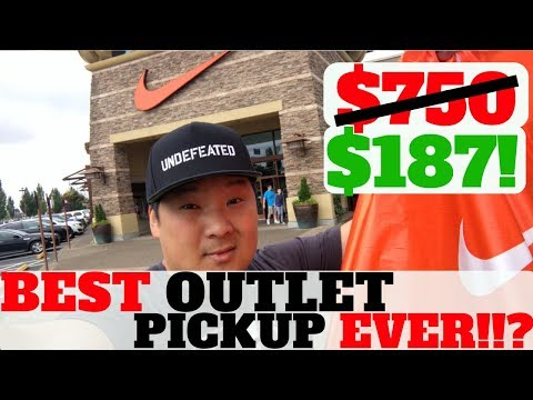 MY BEST PICKUP NIKE OUTLET EVER!!? $750 RETAIL FOR $187! MALL VLOG AT NIKE / ADIDAS
