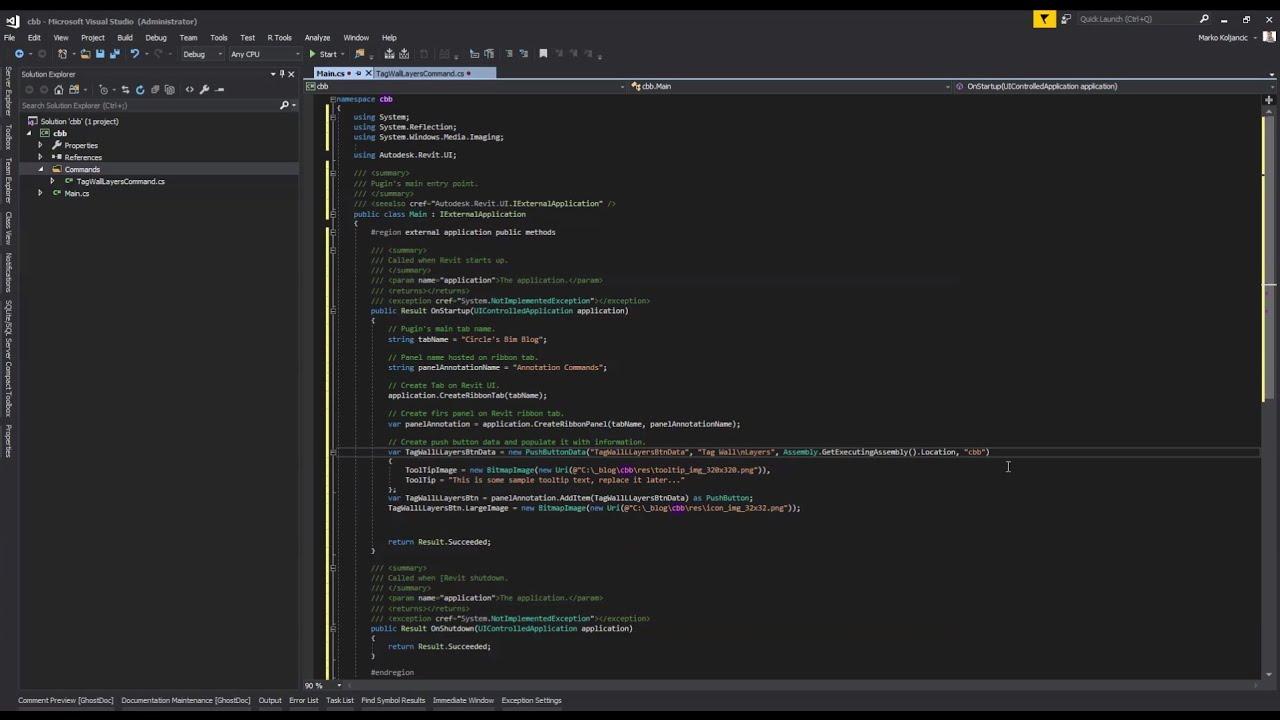 01 - Revit API - Plugin Essentials - First steps, basic plugin setup