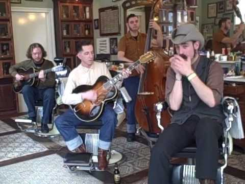 """Pokey LaFarge and the South City Three--""""One Town at a Time"""" Live at Schorem Barbershop"""