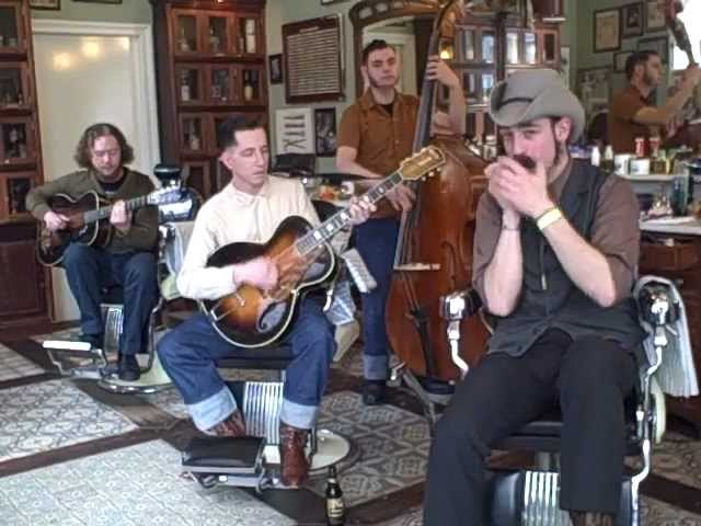 Pokey Lafarge And The South City Three One Town At A Time Live At Schorem Barbershop Youtube