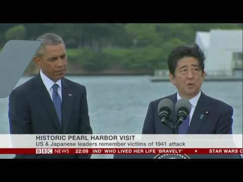 Shinzo Abe visits Pearl Harbor with Barack Obama speeches