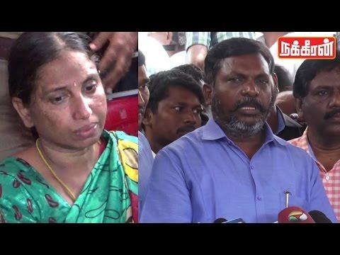 Thiruma in Nalini Father Death