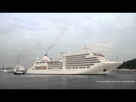 Silver Spirit's maiden call to Singapore, AIDAaura and Costa Classica depart Singapore