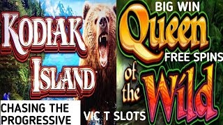 KODIAK ISLAND AND QUEEN OF THE WILD PROGRESSIVE AND BIG WINS (MUSIC BY BENSOUND)