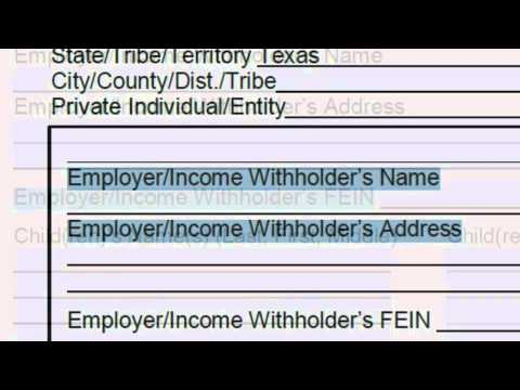 Income Withholding For Support Order