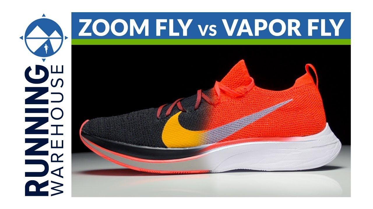 half price presenting quality design Nike Zoom Vaporfly 4% Flyknit vs Nike Zoom Fly Flyknit | Shoe Comparison