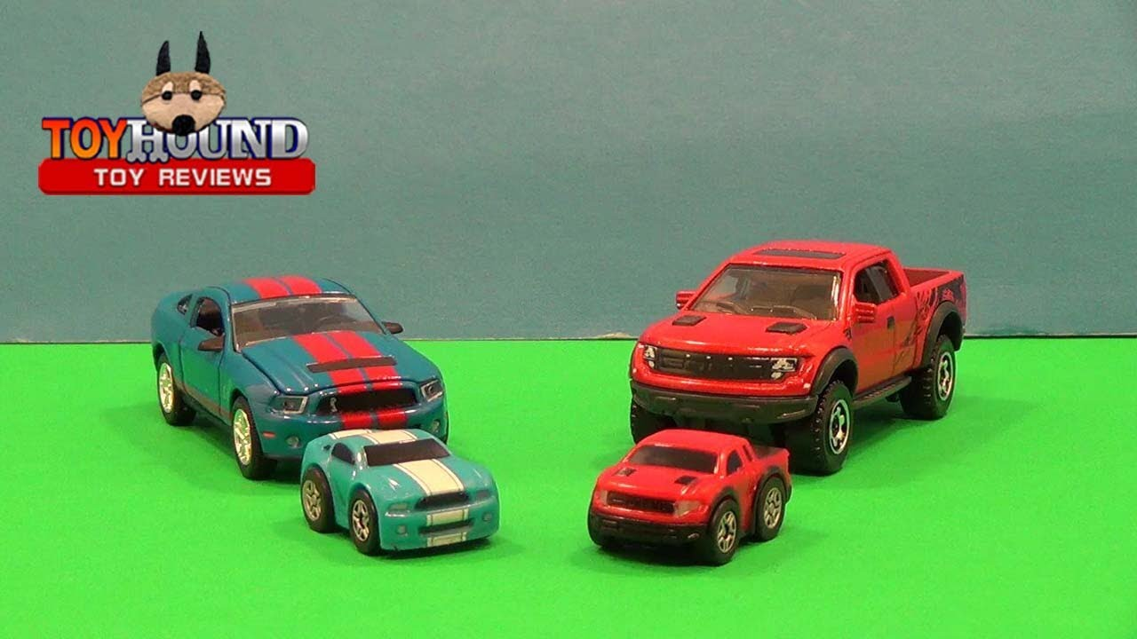 NANO SD Ford Mustang GT and Ford SVT Raptor Two Pack Set,Toy ...