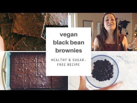 VEGAN BLACK BEAN BROWNIES | Easy Healthy 2-Ingredient Recipe For Beginners