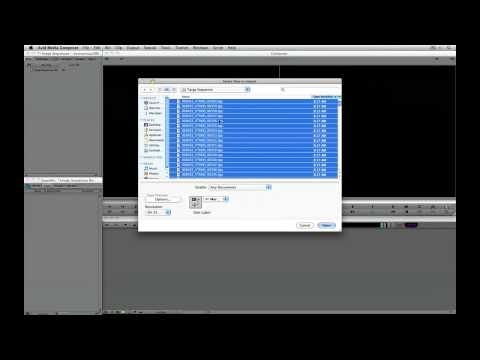 Avid Media Composer Quick Tip 2 - Importing Image Sequences