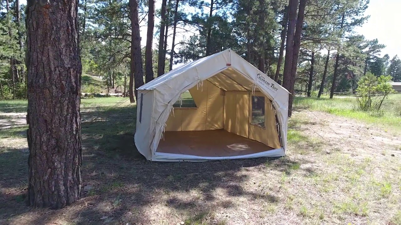 The Colorado Wall Tent by Denver Tent Company & The Colorado Wall Tent by Denver Tent Company - YouTube
