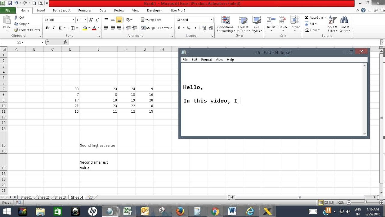 Find The Second Highest Or Second Smallest Value In Excel