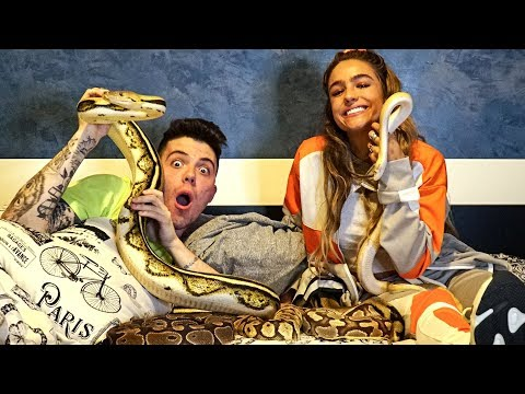 24 HOURS OVERNIGHT with SNAKES w/ Sommer Ray
