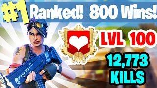 #1 World Ranked - 800 Wins - Sponsor Goal 369/400 FORTNITE BATTLE ROYALE LIVESTREAM thumbnail