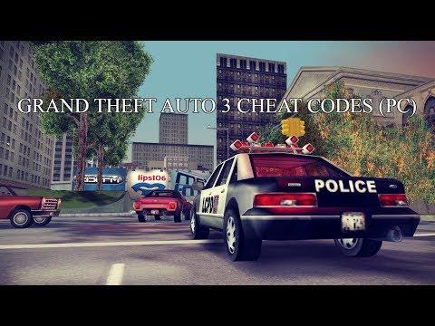 Grand Theft Auto 3 Cheat Codes (PC)