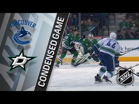 Vancouver Canucks vs Dallas Stars – Feb. 11, 2018 | Game Highlights | NHL 2017/18. Обзор