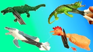 Cutting Open Squishy Kids Animal Toys/Scary Shark And Whale Toys/Stress Ball Emoji Cut Open