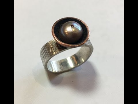 Beginning Jewelry Projects:  Making and Soldering a Pearl Ring