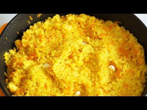 Плов с курицей на сковороде Простой вкусный рецепт - YouTube