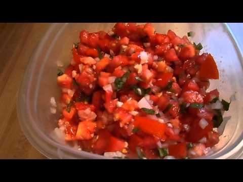 Time to make Fresh Tomato Salsa! Yum!