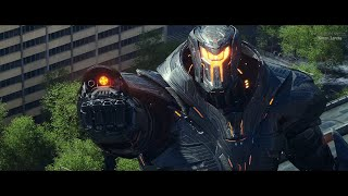 Pacific Rim: Uprising (2018) - Obsidian Fury attack on Sydney - Only action [4K]